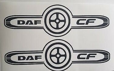 26 XF Daf Real Cowboys Have No Fear  Lorry Emblem Sticker Scania,FH Volvo