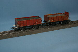 Marklin-365-371-Set-of-2-open-Goods-Cars