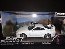 Jada Toyota Supra 1995 & Dodge Charger Raw Metal Fast & Furious 2 Car Set 1/24