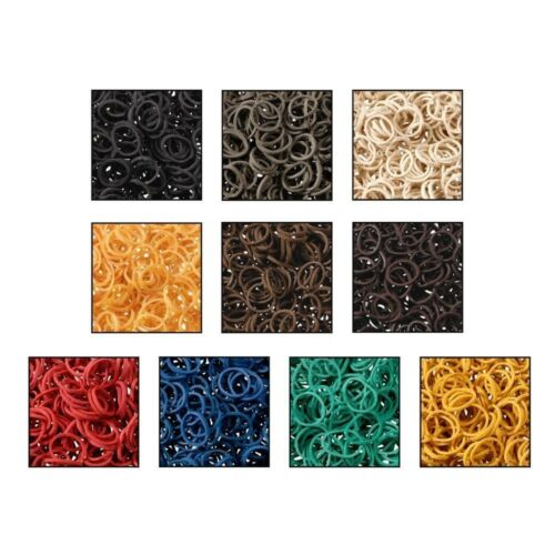 6 Pack 500 each Tough-1 Braidettes Rubber Braiding Bands for Horse Grooming