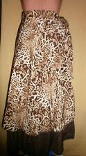CLEVER & CHIC Multi Rock Kleid Gr. 36-44 viele Varianten - Braun Leopard (D-774)