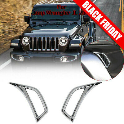 Car Truck Parts For 2018 Jeep Wrangler Jl Red Abs Car Leaf Plate Air Inlet Trim Cover Frame 2pcs Automotive Tuttifrutti Mu