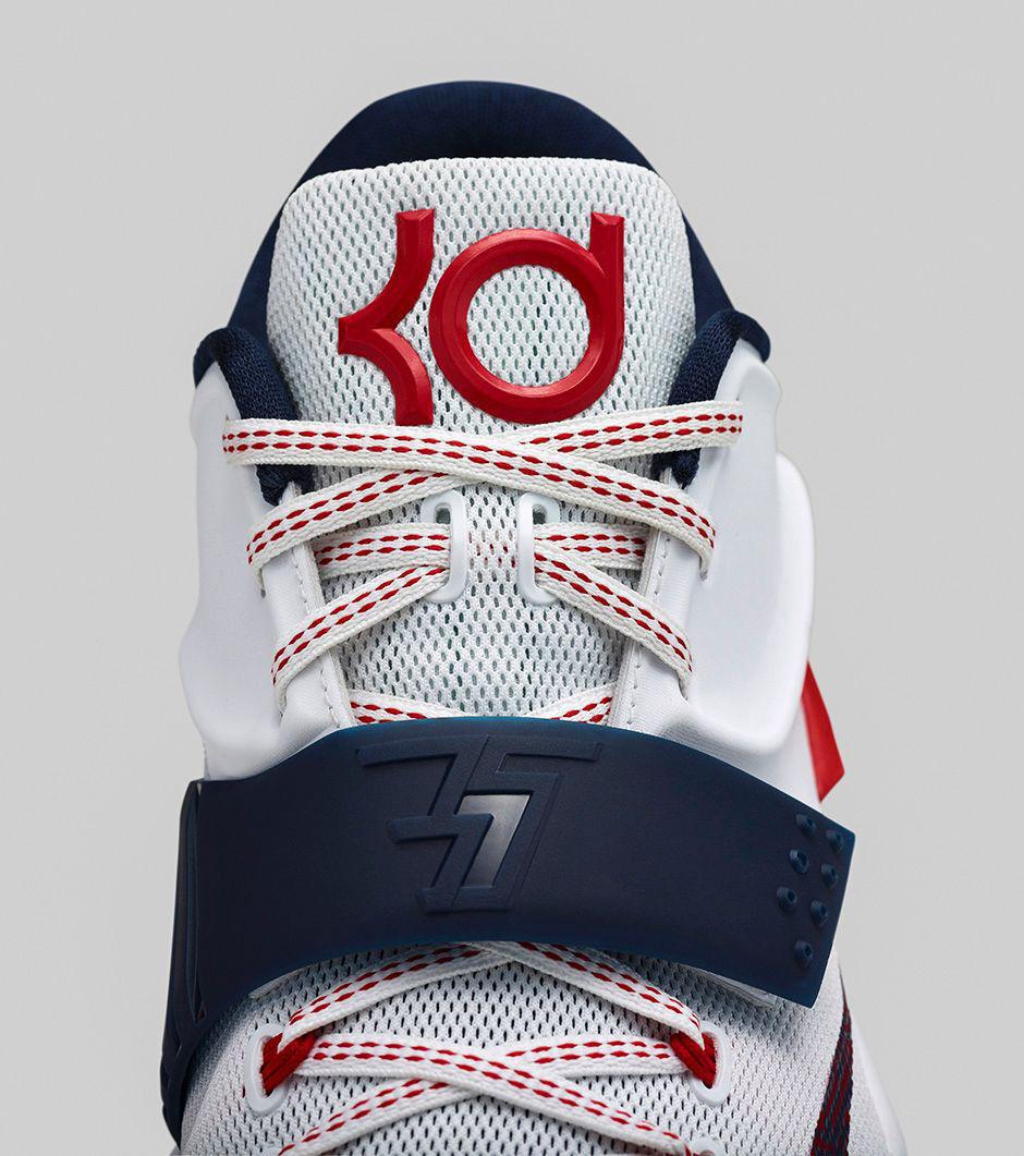 Nike KD UK 7 VII USA Blanc/Obsidienne-University Rouge 653996-146 - UK KD 17/EUR 52.5 30988e