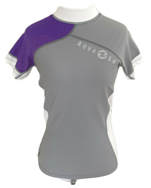 Aqua Lung Womens Short Sleeve Loose Fit Rash Guard