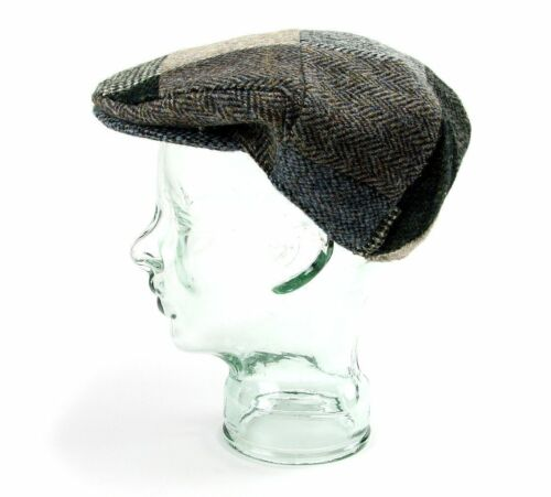 Cap Flatcap Hat Made Green Patch Tweed Flat Harris Mens Blue British Traditional zApqwxw0f