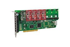 OpenVox A800P14 8 Port Analog PCI Base Card + 1 FXS + 4 FXO, Ethernet (RJ45)