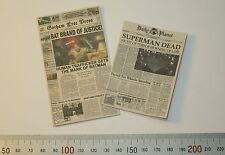 1/6 Scale Newspapers 2 pack Gotham Free Press and Daily Planet Superman Dead
