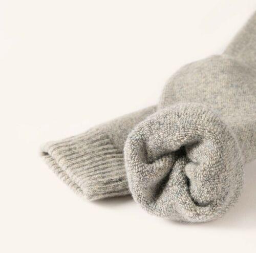 5 Pack Hommes Laine Mérinos Cachemire Chaussettes Solide Rembourré Thermique épais Casual Hiver