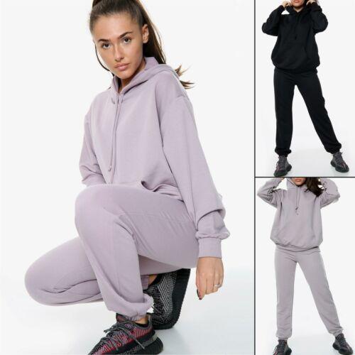Femme Surdimensionné Survêtement Set Femmes Sweat à capuche de survêtement de détente jogging SET UK 8-14