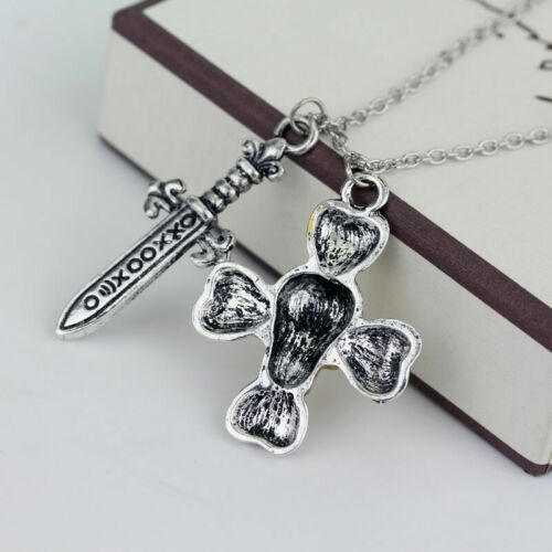 Once Upon A Time Captain Hook Punk Gothic Skull Cross Charm Pendant Necklace New