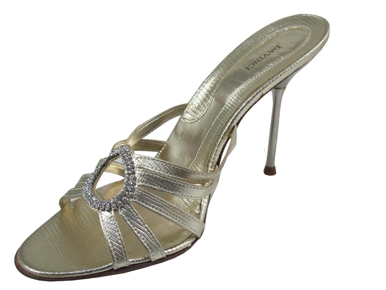 Davinci  1541 Donna  Mid Heel Italian Italian Italian Slide Sandal Light oro 0d2cc4