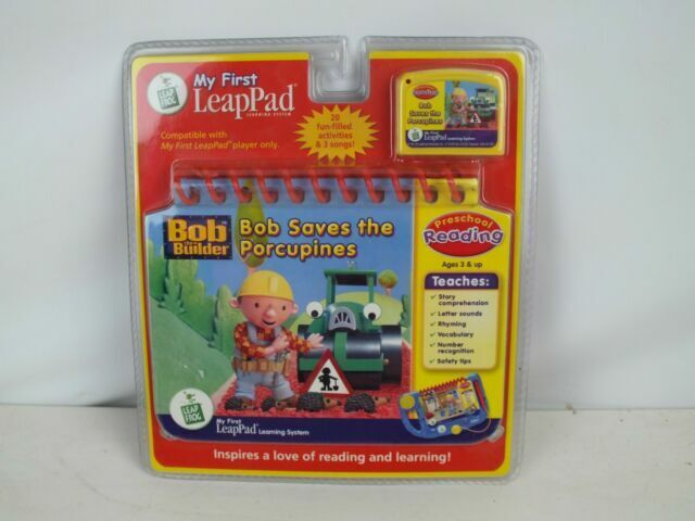 My First LeapPad Bob the Builder Saves the Porcupines Book /& Cartridge