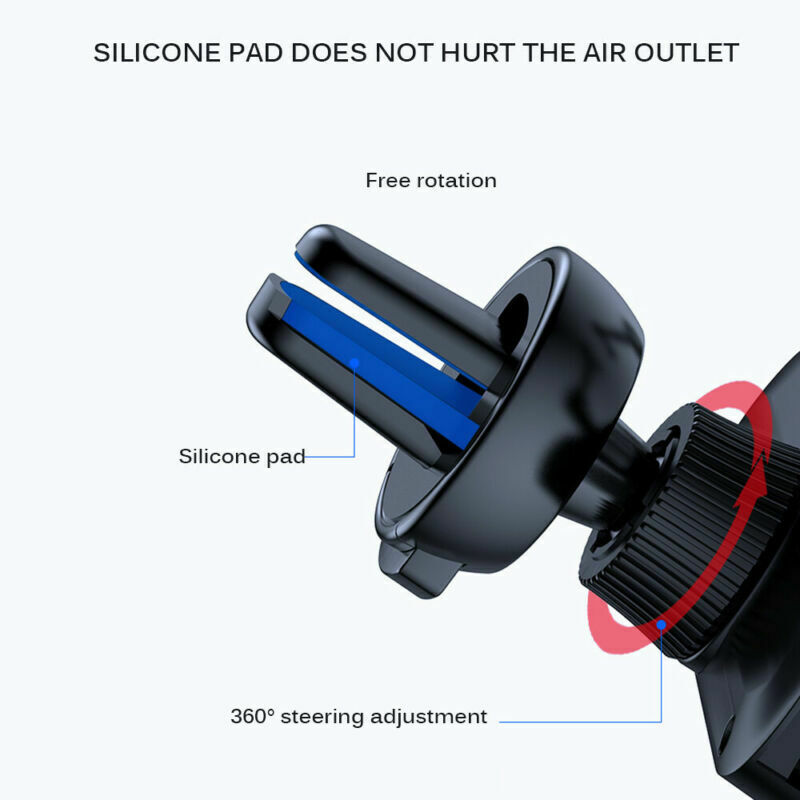 Universal 360° Gravity Car Air Vent Mount Holder Stand Mobile Cell Phone GPS New 7