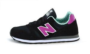 NEW Balance 373 Nero WL373WPG Scarpe da Ginnastica da Donna Scarpe da ginnastica retr Nuovo di Zecca