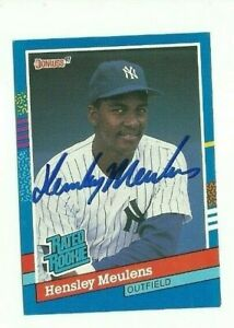 Hensley-Meulens-1991-Donruss-autographed-auto-signed-card-Yankees