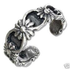 Flower Toe Ring Sterling Silver 925 Fashion Modern Pattern Beach Jewelry Gift
