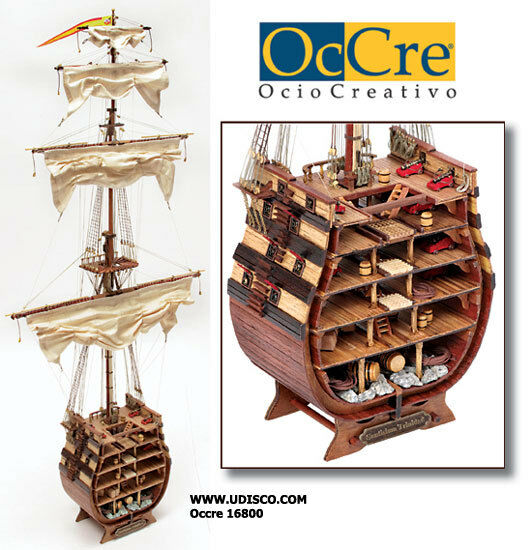 Occre Santisma Trinidad Cross Section 1 90 Scale Model Boat Display Kit 16800