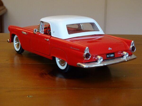 1/18 Ford Thunderbird 1955 4.8 Litri V8 Auto Di Lusso Personale Raro Prezzo Di Vendita