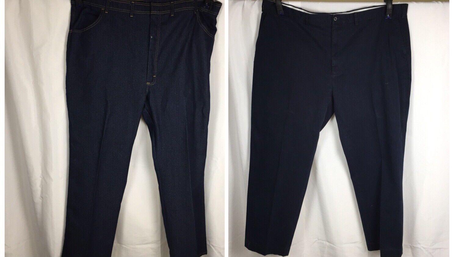 Lot 2 Mens Pants Polo Ralph Lauren Navy 50 X 31 Wrangler Dark  Denim 50 X 30