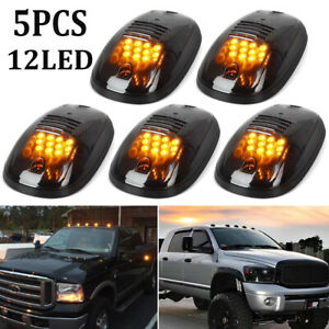 Cab-LED-Amber-Running-Clearance-Roof-Lights-Top-Marker-Car-Trucks-For-Dodge-Ram