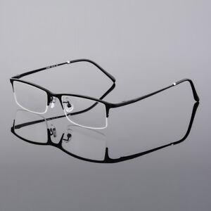 9592dce09c Image is loading Men-Half-Rimless-Pure-Titanium-Myopia-Glasses-Eyeglass-