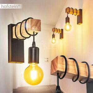 Vintage Wand Lampen Flur Strahler Wohn Schlaf Zimmer Beleuchtung Holz//schwarz