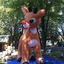 Rudolph The Red nose Reindeer Giant 15 Ft Inflatable,animated, head rotates back