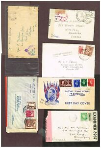 2-PAGES-GB-IRELAND-ETC-MOSTLY-COMMONWEALTH-CENSORED-ETC-ENUJ28