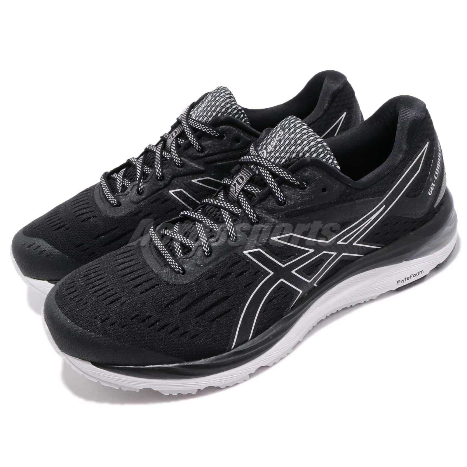 Asics Gel-Cumulus 20 2E Wide Noir Blanc Men Running Chaussures Baskets 1011A014-002