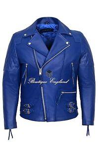 Blue Men's Leather Jacket