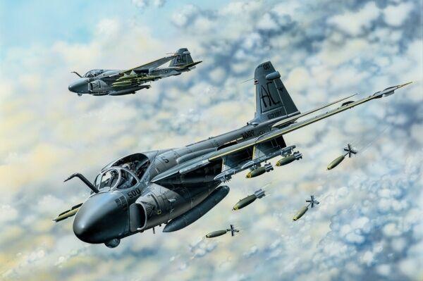 A-6e Tram Intruder Bomber Fighter 1:48 Plastic Model Kit HOBBY BOSS
