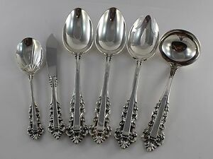 No Monograms Gorham Medici Sterling Silver 4 Piece Place Setting