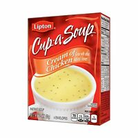 Lipton Cup-a-Soup, Cream of Chicken, 4-Count Pouches per Box ( ) (Lipton) Food and Drink