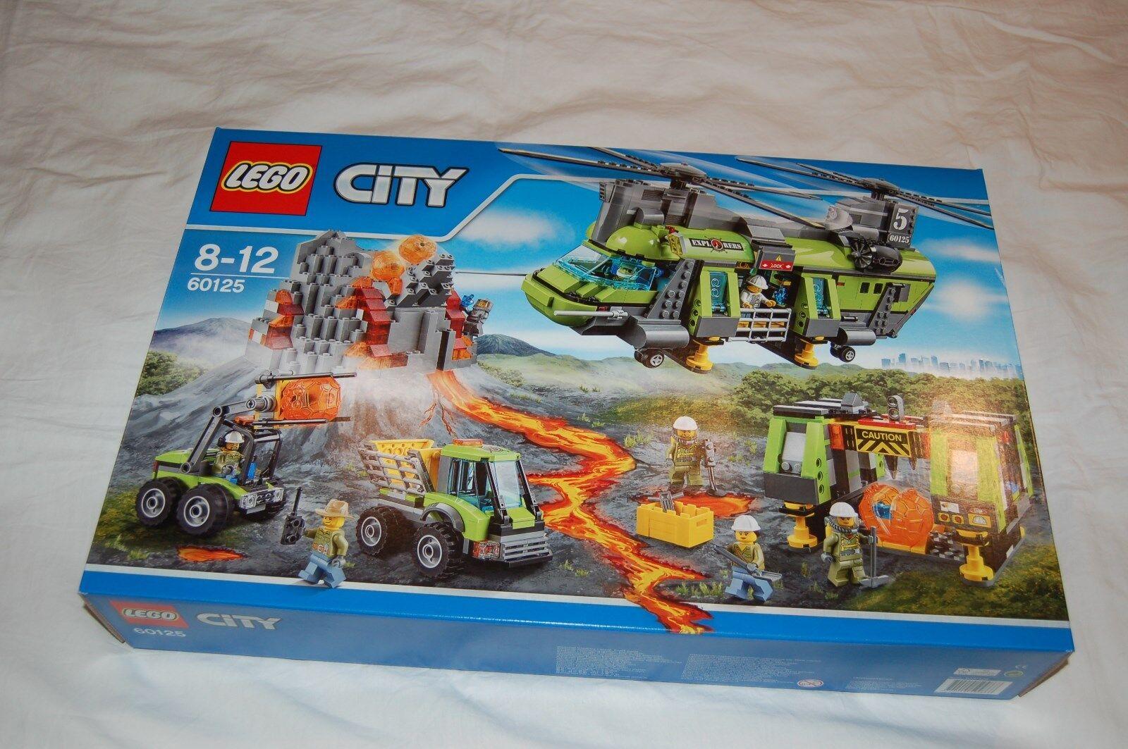 LEGO CITY 60125 Vulkan Schwerlast-Hubschrauber NEU  passt zu 60124 60124 60124 60122 60123 398456