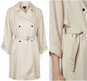 Topshop-Beige-Lightweight-Duster-Belted-Mac-Trench-Coat