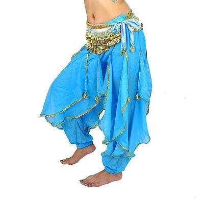 fucsia 8 colori : rosso nero giallo blu azzurro Pantalone in chiffon T.U