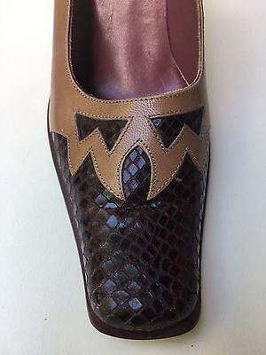 Extra Pumps Highheels Schuhe Westernlook Leder Altrose-Bordeaux