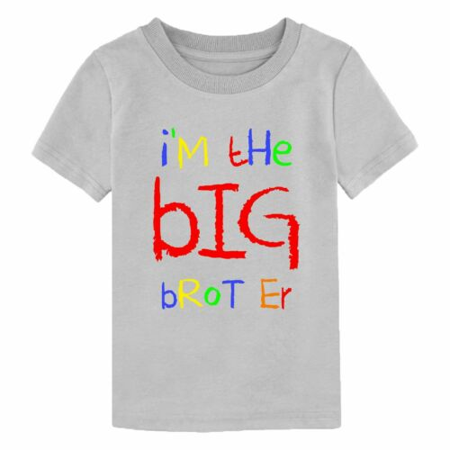I/'m The Big Brother T-Shirt Funny Birthday Gift Mens Youth Children Boy Kids Top