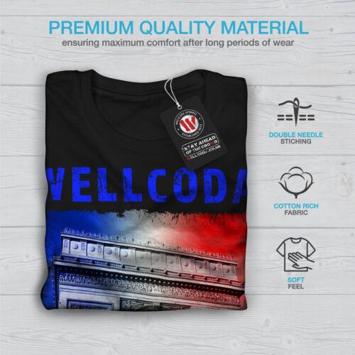 PARIS triophe wellcoda Uomo Manica Lunga T-shirt Nuovewellcoda