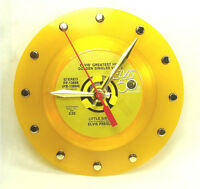 Elvis Presley Little Sister - Recycled Yellow Vinyl Record Clock 45rpm 7