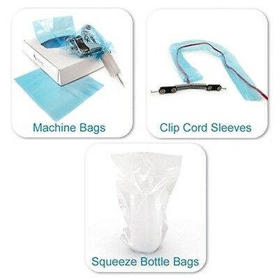 Tattoo 250-Squeeze Bottle Bags 250-Clip Cord Covers 500-Machine Bags Supply