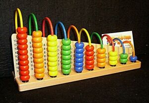 Child abacus maths educational counting beads loop add subtract