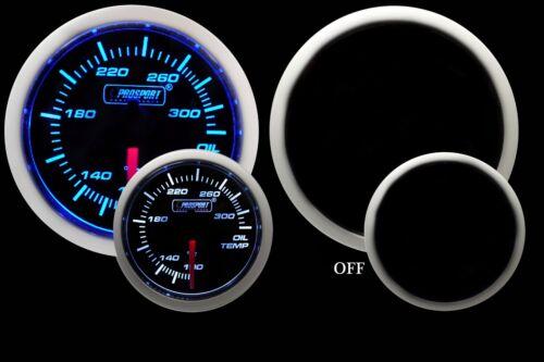 Blue /& White 52mm NEW OIL TEMPERATURE Gauge Prosport Performance Series