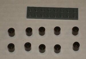 LEGO-NEW-1x1-Dark-Brown-Round-Brick-10x-6022105-Brick-3062