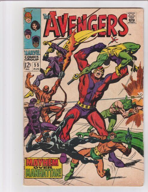 The Avengers 55 Aug 1968 Marvel For Sale Online Ebay