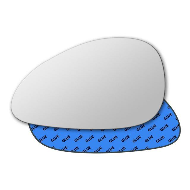 Left Hand Passenger Side Mirror Glass for Citroen C4 2004-2010 0035LS