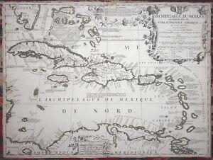 Cuba To Florida Map.Vincenzo Coronelli Archipelague Du Mexique Cuba Mexico Florida Map