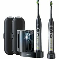 Philips Sonicare Flexcare Whitening Edition Rechargeable Toothbrush 2-pack Black