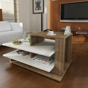 Couchtisch Braun Wohnzimmertisch Holz Beistelltisch Design Tisch ...