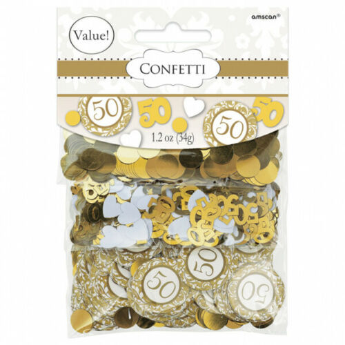 Golden Wedding Table Confetti 50th Anniversary Table Decorations 360344